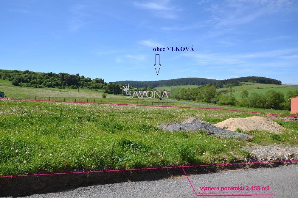 Pozemok - 2.458 m2, v obci Vlková