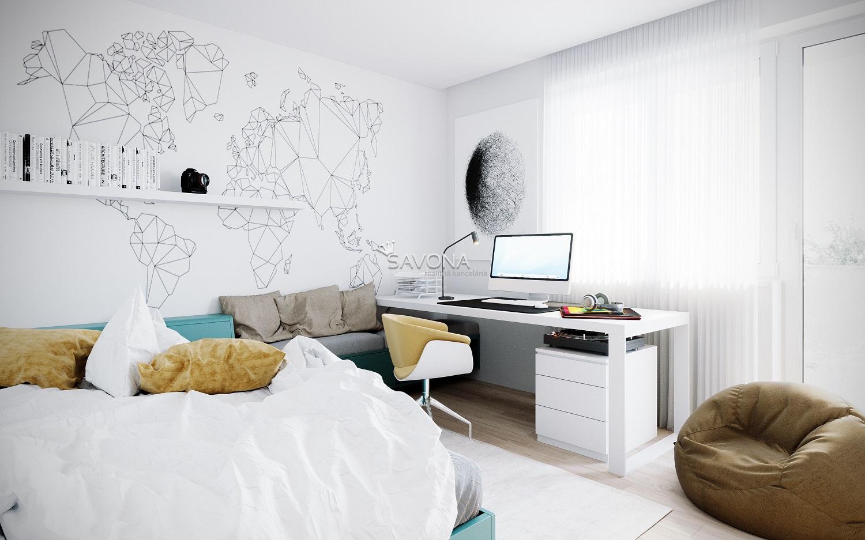 URSUS - 3 izbový byt B10 - 83,20 m2 + balkón 10,58 m2 +loggia 5,09 m2