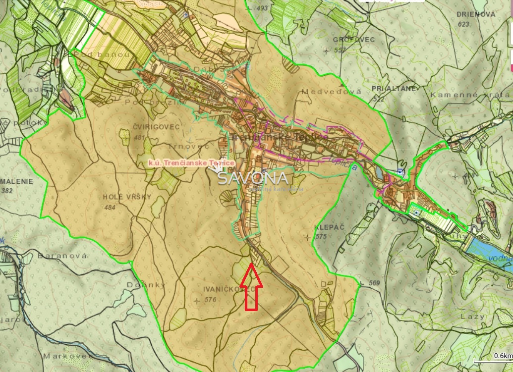 Pozemok - 2.200 m2, Trenčianske Teplice